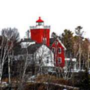 Two Harbors Lighthouse Close-up Art Print