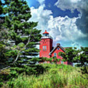Two Harbors Lighthouse Art Print