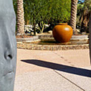 Two Heads Are Better Than One - Palm Desert Sculpture Gardens Art Print