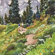 Two Hikers Art Print