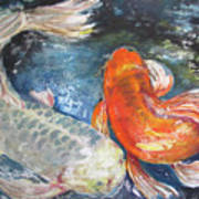 Two Koi Art Print
