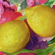 Two Lemons Art Print