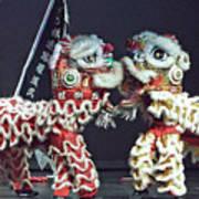 Two Lions Kung Fu Club Art Print