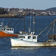 Two Lobster Boats Art Print