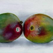 Two Mangoes Art Print