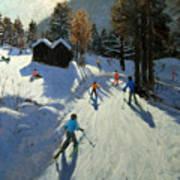 Two Mountain Huts Art Print