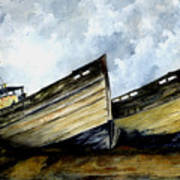 Two Old Boats Art Print
