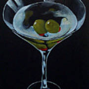 Two Olive Martini Art Print