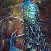 Two Peacocks Art Print