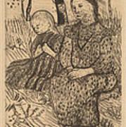 Two Peasant Girls Art Print
