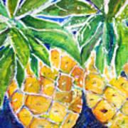 Two Purple Pineapples Art Print