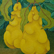 Two Quinces  2008 Art Print