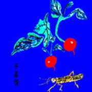 Two Radishes And A Grasshopper Art Print