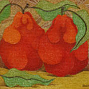 Two Red Quinces  2008 Art Print