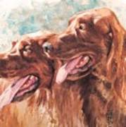 Two Redheads Art Print by Debra Jones
