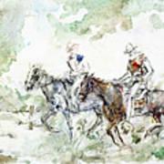 Two Riders Art Print