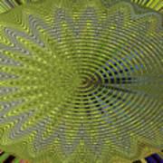 Two Saguaro Abstract #4496w3 Art Print