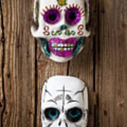 Two Skull Masks Art Print