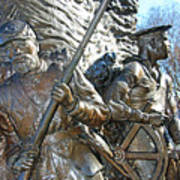 Two Soldiers Of The The African American Civil War Memorial -- The Spirit Of Freedom Art Print