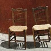 Two Spainisch Chairs  Art Print