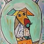 Two Star Greyhound Art Print