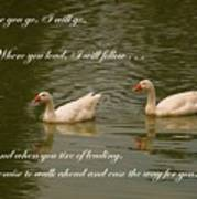 Two Swans - Marriage Vows Art Print