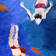 Two Swimmers Art Print