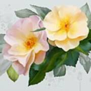 Two Wild Roses Art Print