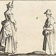 Two Women In Profile Art Print