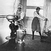 Two Women Making Butter Art Print