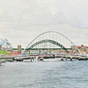 Tyne Bridges And Quayside Art Print