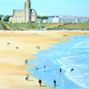 Tynemouth Beach Art Print