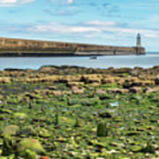 Tynemouth Pier Landscape In Color 2 Art Print