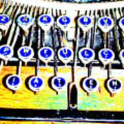 Typewriter Art Print by Peter  McIntosh