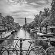 Typical Amsterdam - Monochrome Art Print