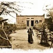 Typical House India Rajasthani Village 1e Art Print