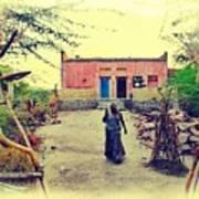 Typical House India Rajasthani Village 1j Art Print
