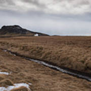 Typical Icelandic Mountain Landscape Art Print