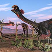 Tyrannosaurus Rex Attacking Art Print