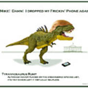 Tyrannosaurus Rump Art Print