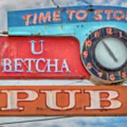 U Betcha Pub Art Print