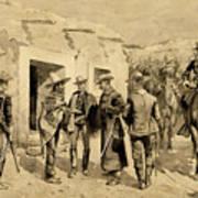 U. S. Cavalry Hunting Garza Men On The Rio Grande Art Print