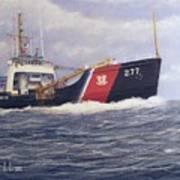 U. S. Coast Guard Buoy Tender Print by William H RaVell III