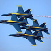 U S Navy Blue Angeles, Formation Flying Art Print