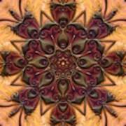 u046-b Quartetweaks Of An 8-Petaled Mandalwork 2 Art Print