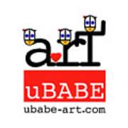 uBABE Art Wave Art Print