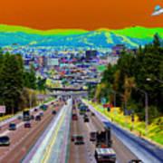 Ufo Over Spokane Art Print