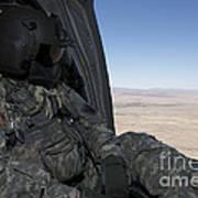 Uh-60 Black Hawk Crew Chief Takes Art Print