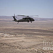 Uh-60 Black Hawk En Route To New Mexico Art Print
