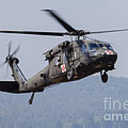Uh-60a Black Hawk Medevac Helicopter Art Print